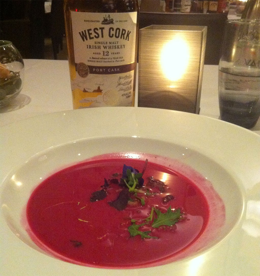 West Cork Port Whiskey und Rote Beete Suppe