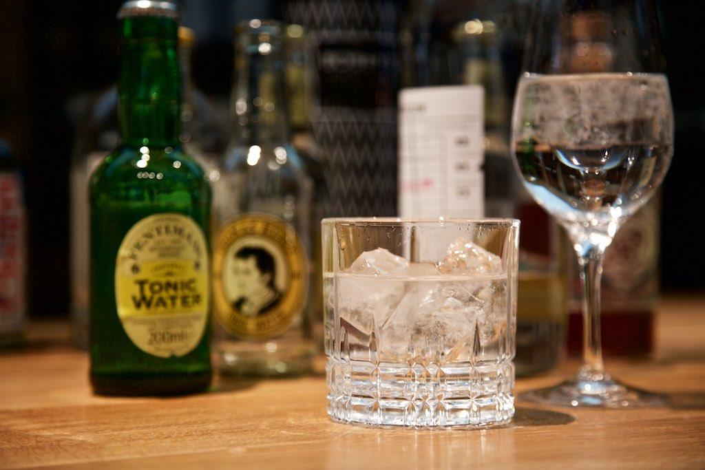 Gin & Tonic mit Glas