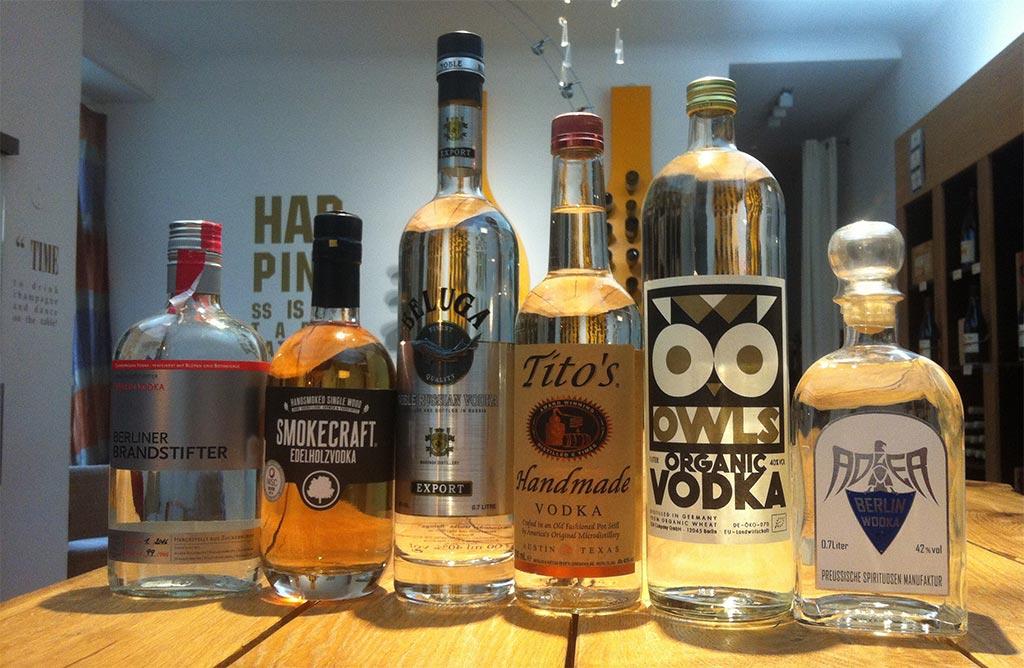 Wodka Verkostung Vorbereitungen bei Delicious Berlin