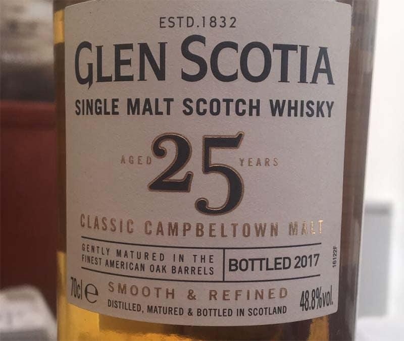 Campletown Whisky: Glen Scotia 25 Jahre
