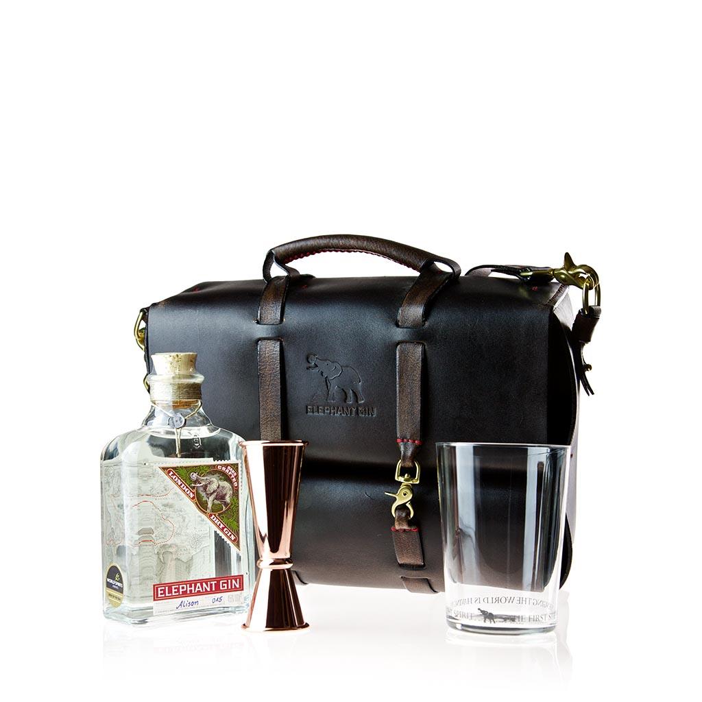 Elephant Gin Leather Travel Bag