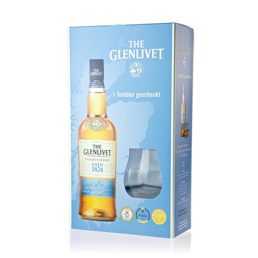Glenlivet Founder `s Reserve Geschenkset 1
