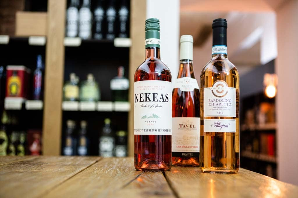 Verschiedene Rosé Weine bei Delicious Berlin